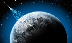 <strong>Cosmic Rays</strong><br />Credit: NSF/J.Yang