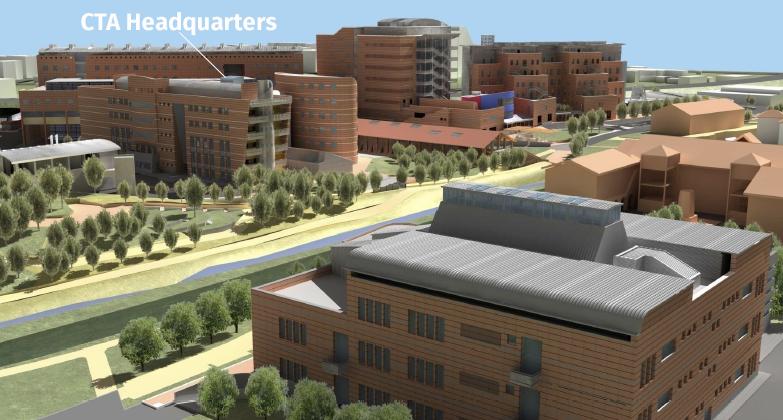 Computer rendering of CTA Headquarters Building, Bologna (Credit: Bologna University Project Office)