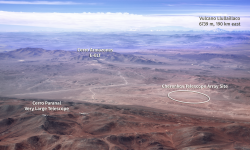 <strong></strong><br />CTA site in relation to Paranal Observatory and the site of the ELT. Credit: Marc-André Besel, CTAO / ESO