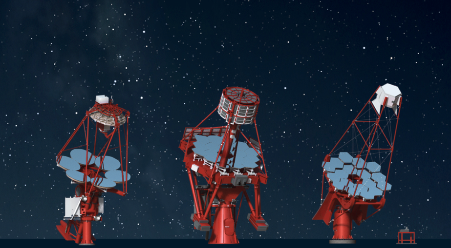 <strong></strong><br />From left: SST-2M GCT, SST-2M ASTRI, SST-1M